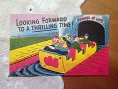 Vintage Postcard Tunnel of Love Comic Card  1940s by PaperElf, $5.75
