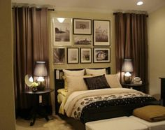 Dream bedroom- i like the drapes on either side of the bed