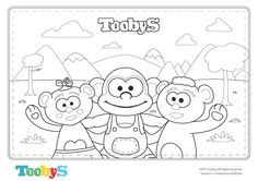 Tooby's Colouring Page