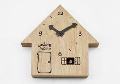 """10 IDEE PER ARREDARE UNA CAMERETTA CON PRODOTTI ECO-FRIENDLY - Per finire il """"Cuckoo Home"""", un divertentissimo orologio a cucù in legno di betulla, dotato di sensore per la luce che blocca la suoneria quando la stanza è al buio."""