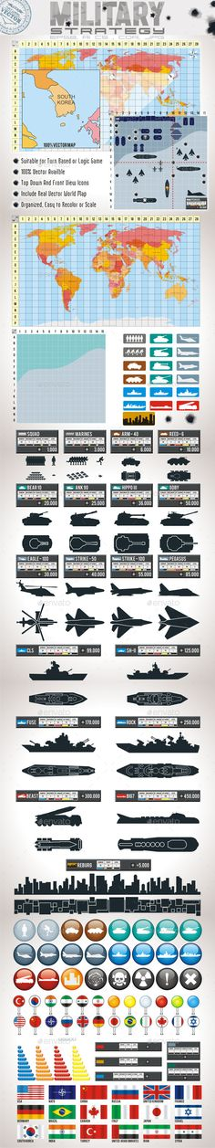 Strategy Game Assets — Vector EPS #aircraft #war • Download here → https://graphicriver.net/item/strategy-game-assets/9121000?ref=pxcr