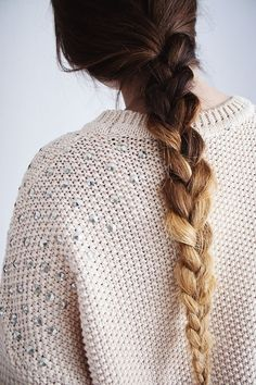 . ombré braid .
