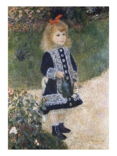 Girl with a Watering Can Giclee Print by Pierre-Auguste Renoir at Art.com