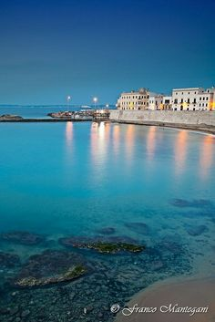 Gallipoli, Puglia, Italy Beautiful there, but bring your own change :O)