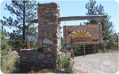 What does a city girl say when asked to be hosted at the Broadmoor Fish Camp for three nights? Broadmoor Colorado Springs, It's Going Down, Fish Camp, City Girl, Evergreen, Camping, Outdoor Structures, Campsite, Campers