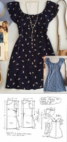 Dress Sewing Patterns, Clothing Patterns, Fashion Drawing Tutorial, Sewing Circles, Sleeves Designs For Dresses, Fashion Design Sketches, Fashion Sewing, Traditional Dresses, Pattern Fashion