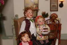 Catherine Muniere doll and Angelika Mannersdorfer