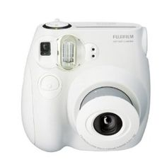 Fujifilm Instax MINI 7s White Instant Film Camera. Pretty dang cool and only $62.90 on Amazon!
