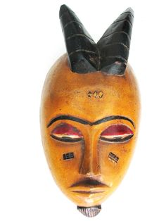 Baule+Mask+from+Ivory+Coast Wood Sculpture, Sculptures, African Home Decor, Ivory Coast, African Art, Unique Gifts, Carving, Contemporary, Wall Art