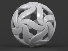 Floral Star Ball 3D Print