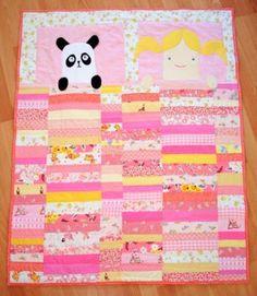 A girl and her panda - a modern applique quilt (jajaja)