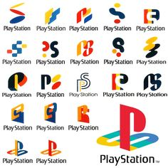Early Playstation logo concepts
