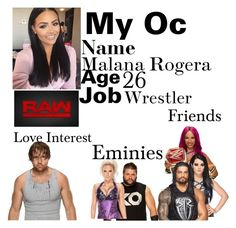 """my oc"" by alexisotey14 ❤ liked on Polyvore featuring WWE"