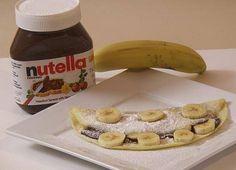 Nutella and Banana Crepes Recipe