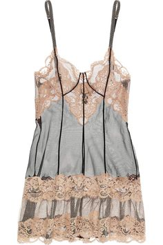 Pretty Lace and Tulle Chemise by La Perla #feelinsexy