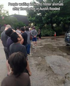 People WAITING IN LINE to help others. What a beautiful thing.