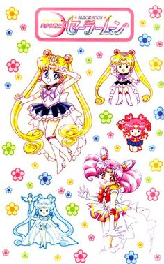 Sailor Moon and Sailor Mini Moon Stickers Sailor Chibi Moon, Sailor Venus, Sailor Mars, Sailor Moon Crystal, Naoko Takeuchi, Sailor Moon Character, Kawaii, Sailor Scouts, Up Girl