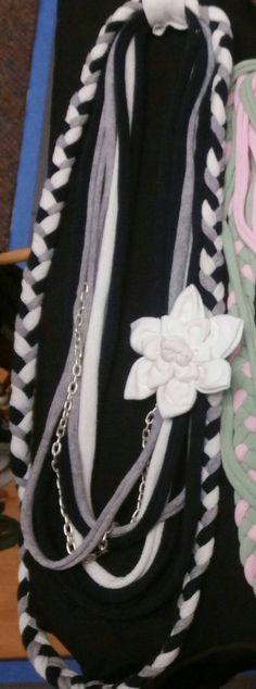Tshirt scarf necklace by BreVeryCrafty on Etsy