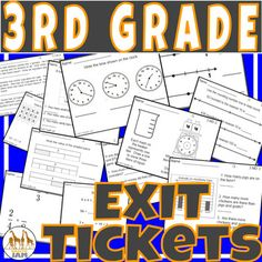 7th grade math test prepexpressions equations and inequalities 3rd grade math exit tickets bundle common core aligned no prep spiritdancerdesigns Images