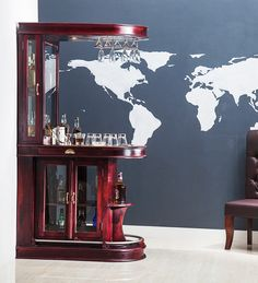 Bar Units - Buy Bar Units Online in India at Best Prices Home Bar Table, Home Bar Counter, Home Bar Cabinet, Home Bar Decor, Mini Bar At Home, Bars For Home, Small House Interior Design, House Design, Home Bar Rooms