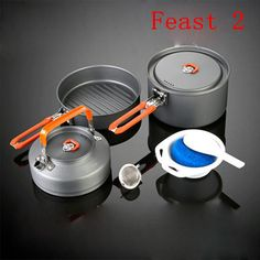 Fire Maple Feast-2 Pots Set For 2-3 Persons Kitchen Pots Set Outdoor Camping Hiking Picnic Cooking Cookware 686g Free Shipping