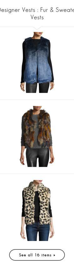 """Designer Vests : Fur & Sweater Vests"" by modalist ❤ liked on Polyvore featuring outerwear, vests, faux fur waistcoat, fake fur vest, navy blue vest, navy faux fur vest, navy vest, sleeveless waistcoat, fur waistcoat and sleeveless vest"