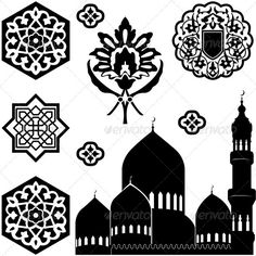 Islamic ornaments  #GraphicRiver         Vector set of Islamic ornaments on white background. Package contains: EPS (8 version), JPG (5000×5000 pixels, RGB )     Created: 3February13