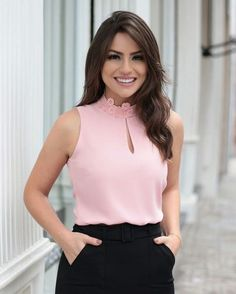 Cute Dresses For After Prom Short Tops, Long Tops, Business Attire, Business Outfits, Corsage, I Dress, Blouse Designs, Ideias Fashion, Casual Outfits