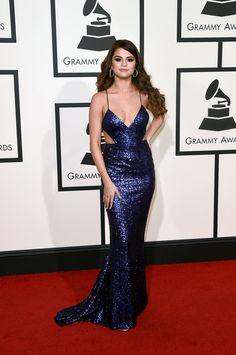 Selena Gomez in Calvin Klein Collection. Grammys 2016 Red Carpet.