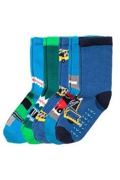 5 calcetines antideslizantes: Calcetines de punto de jacquard en mezcla de algodón con protección inferior antideslizante.