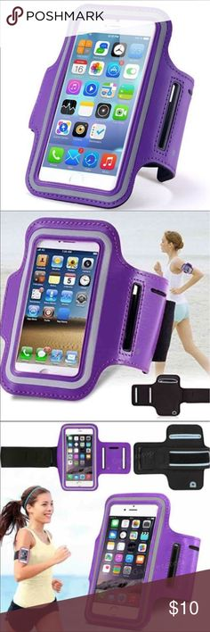 iPhone 7+/6+ Universal waterproof sport armband iPhone 7+/6+ Universal waterproof sport armband Stylish and convenient Universal Professional Sports Armband for running, fitness, cycling and all sports activities compatible for Apple iPhone 7 Plus, 6 Plus and 6s Plus, 5.5 inch.  Waterproof, sweat-proof and high quality.  Fast shipping  Purple Accessories