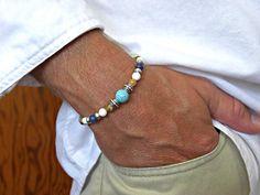Howlite Turquoise Picture Jasper White Howlite by JaspersDream, $25.50
