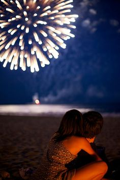 Fireworks with my love cute couples sky night outdoors fireworks hugs 2014 new year