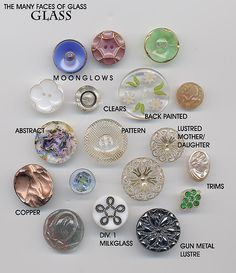 Various Glass Buttons by YaddaYaYa, via Flickr