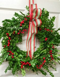 Make this classic Christmas wreath for only $2!