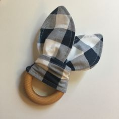 Sale Natural 3 inch wooden ring baby teether boy girl teething ring nautical sheep moustache pattern