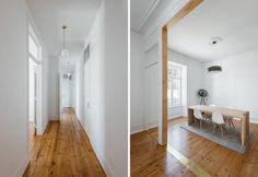 Total white e parquet: l'essenzialità di un appartamento a Lisbona - Elle Decor Italia