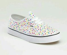 White Rainbow Sprinkle Vans
