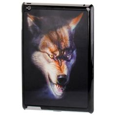 For+iPad+4+3D+Effect+Style+Wolf+Pattern+Plastic+Protector+Case