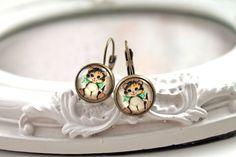 Pretty cat earrings sweet lolita feminine cute  from Dina Fragola by DaWanda.com