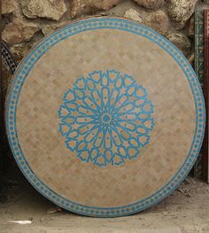 Moroccan Mosaic Tile Table Round