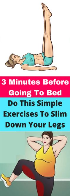 3 Minutes Before Going To Bed, Do This Simple Exercises To Slim Down Your Legs! – Healths World