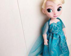 Frozen Elsa Inspired Cotton Doll Dress ~ For Disney Animator Doll