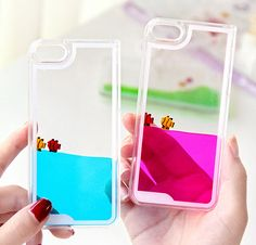 iphone 5 6 6plus case Funny Fashion Fishes Freely Swimming Clear Crystal Case Cover,Creative Design Flowing Liquid Swimming Fish Hard Case by iPase on Etsy https://www.etsy.com/listing/215114036/iphone-5-6-6plus-case-funny-fashion