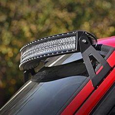 Upper Windshield Curved LED Light Bar Mounting Brackets for Jeep XJ Cherokee Jeep Xj Mods, Modificaciones Jeep Xj, Jeep Truck, Chevy Trucks, Jeep Wrangler, Big Trucks, Pickup Trucks, Maserati, Bugatti