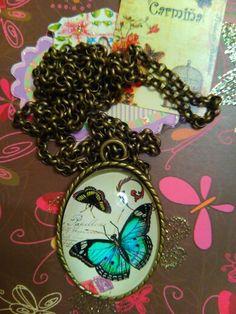 Colgante Camafeo mariposa