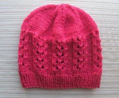 Hat in Double Eyelet Rib