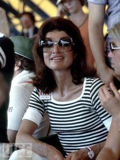 Jackie Kennedy in Nina Ricci Sunnies and so Marimekko in that striped tee