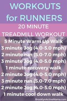 Workouts for Runners: 20 Minute Treadmill Interval Cardio Workout! Check out the link for 5 more treadmill workout plans! High intensive interval training(hiit), cardio training at home, cardip circuit workout Interval Cardio, Treadmill Workouts, Running Workouts, Treadmill Running, Running Tips, Butt Workouts, Running Humor, Walking Workouts, Running Intervals