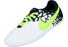 Nike Youth FC247 Elastico II Indoor Soccer Shoes  White and Flash Lime...available at SoccerPro.